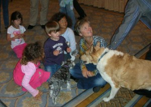 Beverly Ulbrich - dog trainer with kids and dogs
